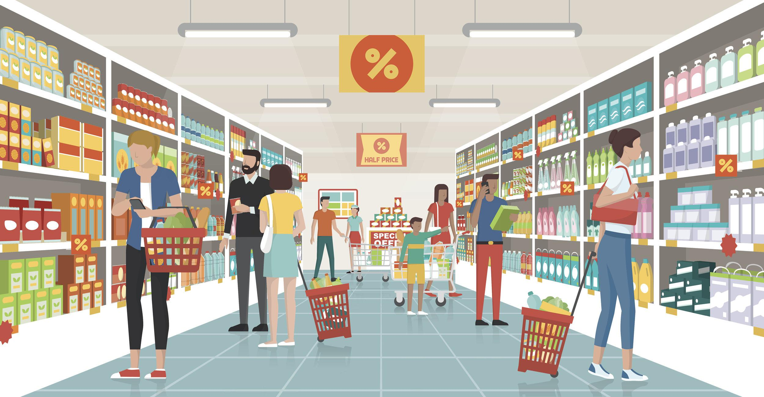 8 Smart Grocery Shopping Mind Tricks Stores use to make you Spend