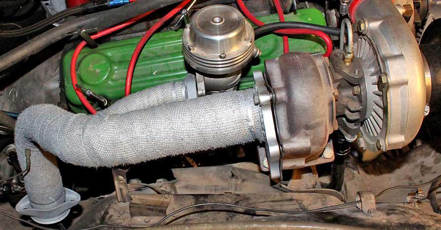 exhaust heat wrap