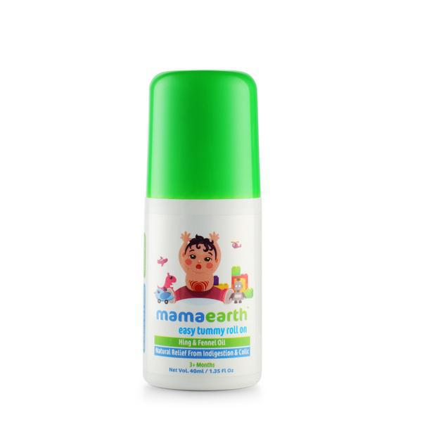 Mamaearth Easy Tummy Roll On for Digestion and Colic Relief, Hing and Fennel, 40 ml